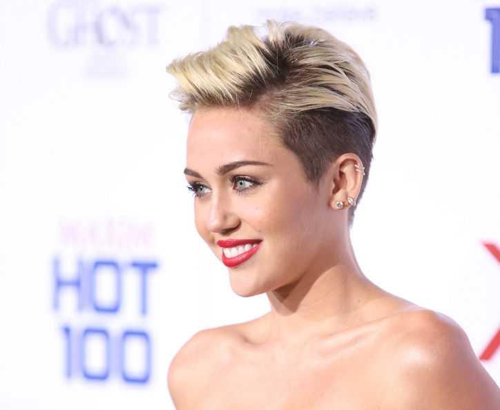 Miley Cyrus Sleek Short Hair