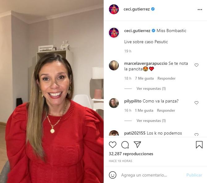 Captura Instagram Cecilia Gutierrez 1