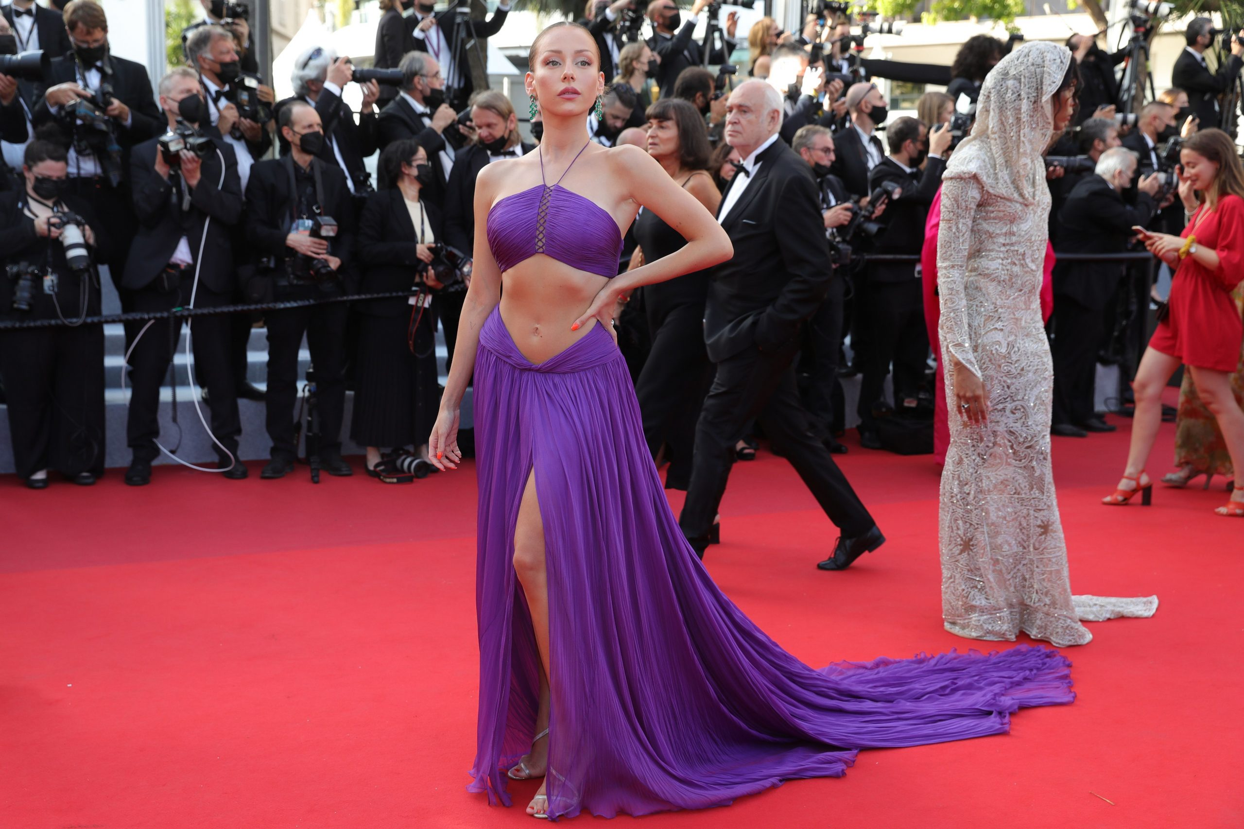 """""""Annette"""" & Opening Ceremony Red Carpet The 74th Annual Cannes Film Festival"""