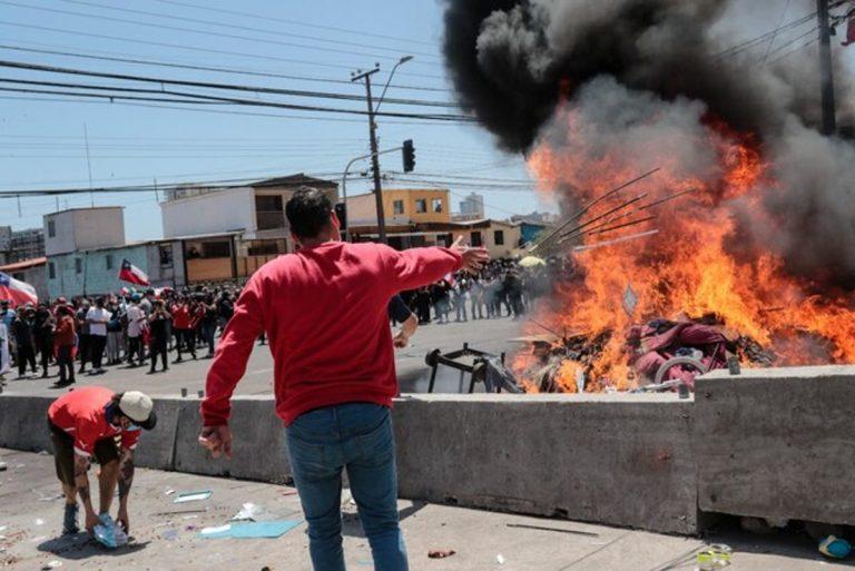 crisis migratoria quema pertenencias iquique