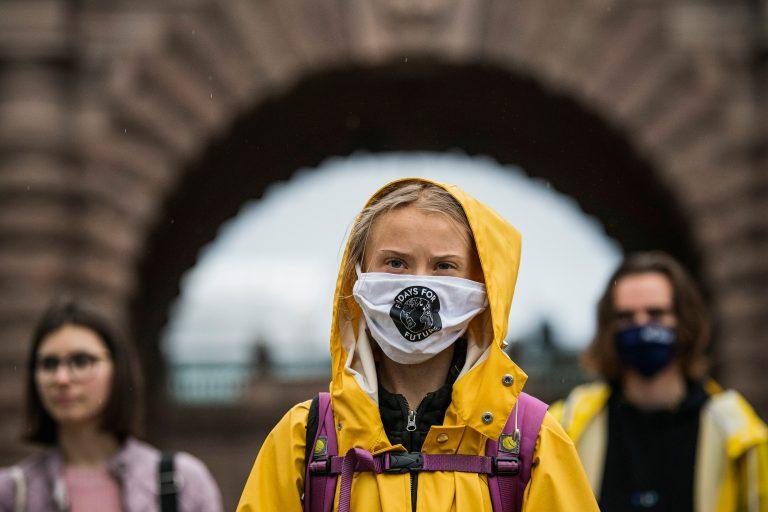 TOPSHOT SWEDEN CLIMATE STRIKE GRETA
