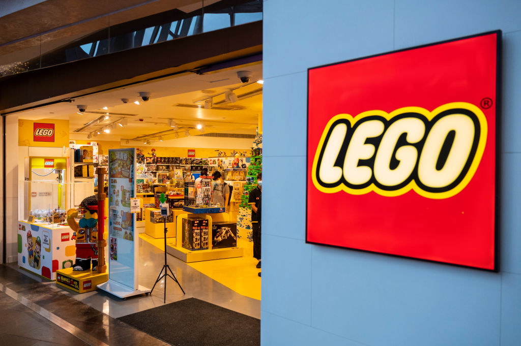 Danish Toy Brand Lego Official Store Seen In Hong Kong