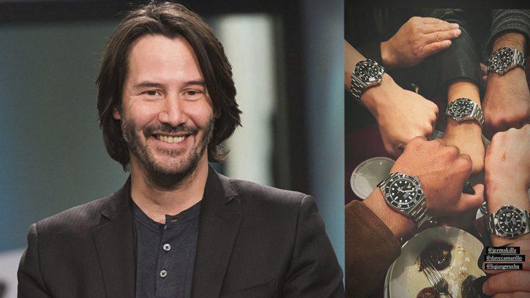 Keanu Reeves sorprendió a sus dobles de acción con Rolex de lujo